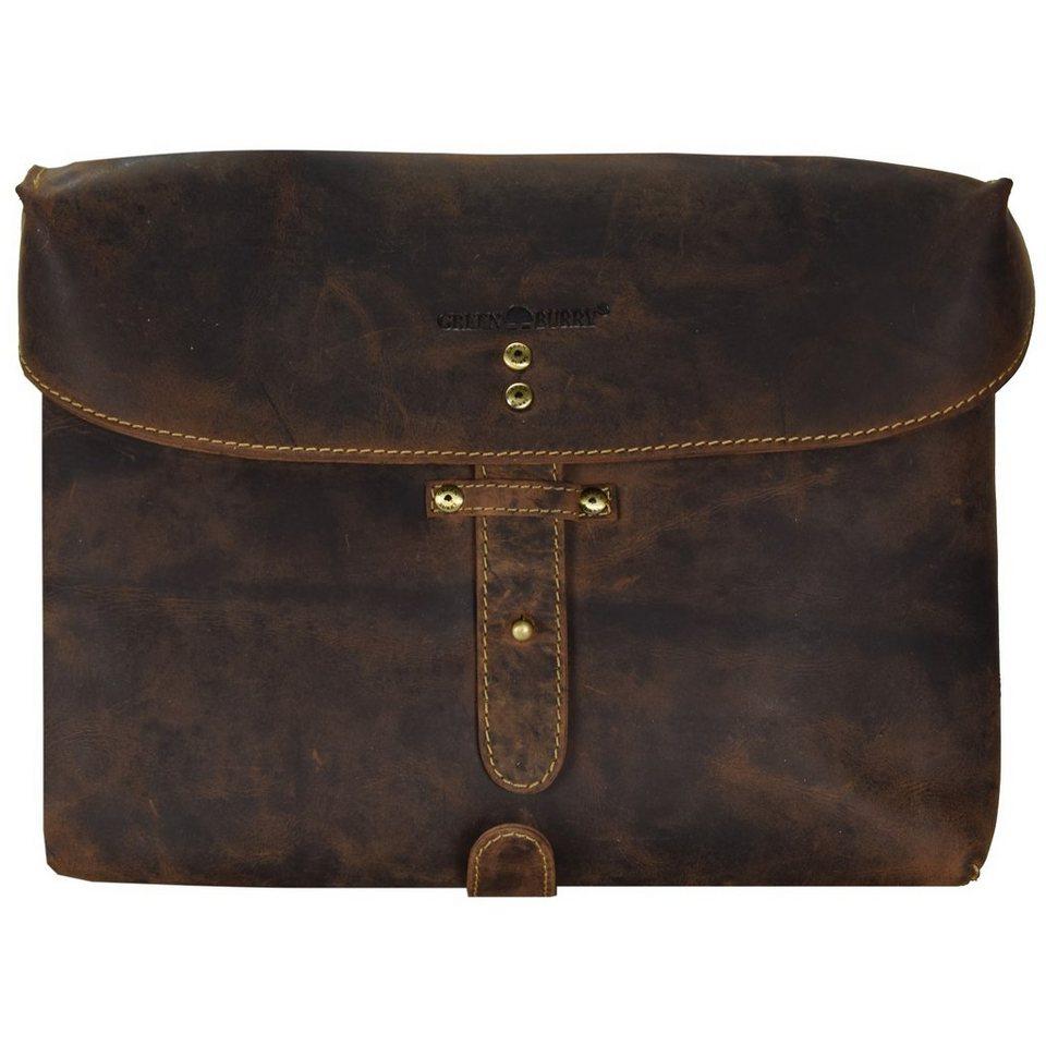 Greenburry Vintage Umhängetasche Leder 31 cm in brown