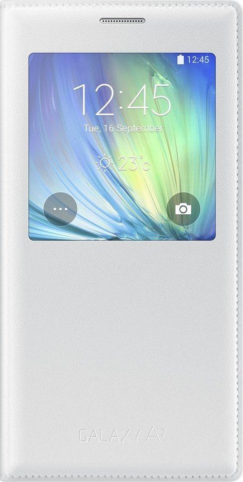 Samsung Handytasche »S-View Cover EF-CA700 für Galaxy A7, Weiß« in Weiß
