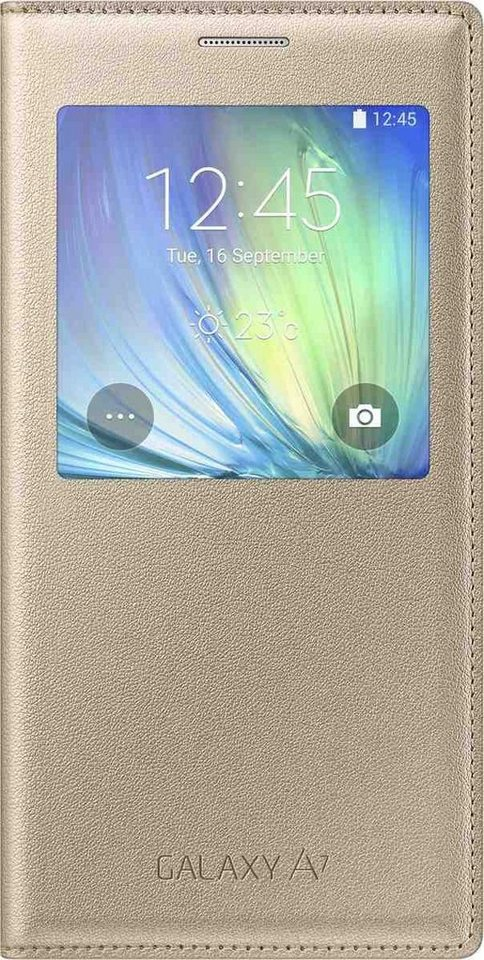 Samsung Handytasche »S-View Cover EF-CA700 für Galaxy A7, Gold« in Gold