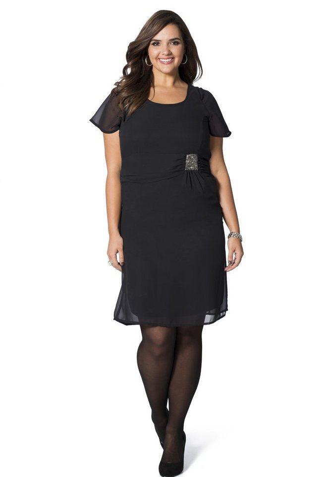 sheego Style Exklusives Kleid in schwarz