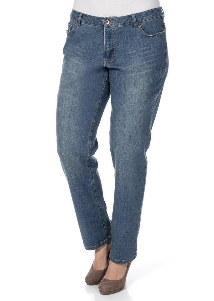 sheego Denim Boyfriend Stretch-Jeans in dark blue used
