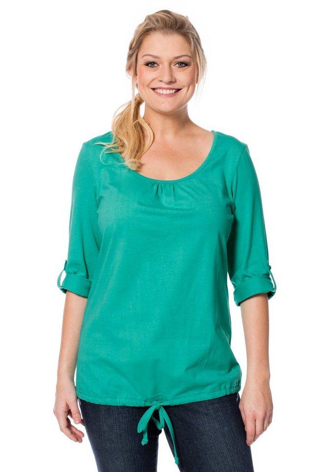 sheego Casual Basic-Shirt in aqua