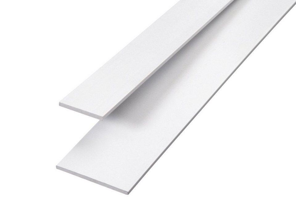 Flachprofil, 2er-Set in weiß