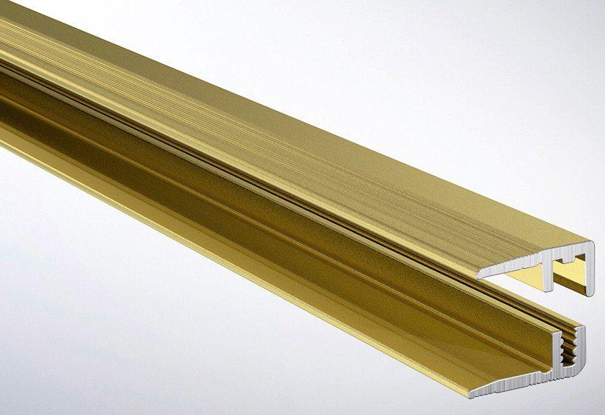 Abschlussprofil in goldfarben
