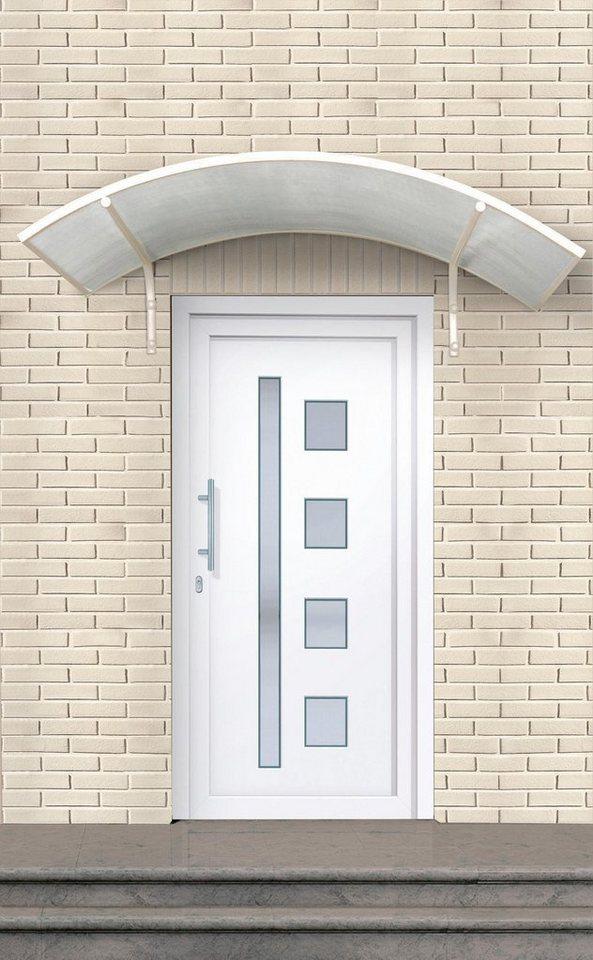 Kunststoff-Haustür »Luxemburg« Tür nach Maß, weiß in weiß