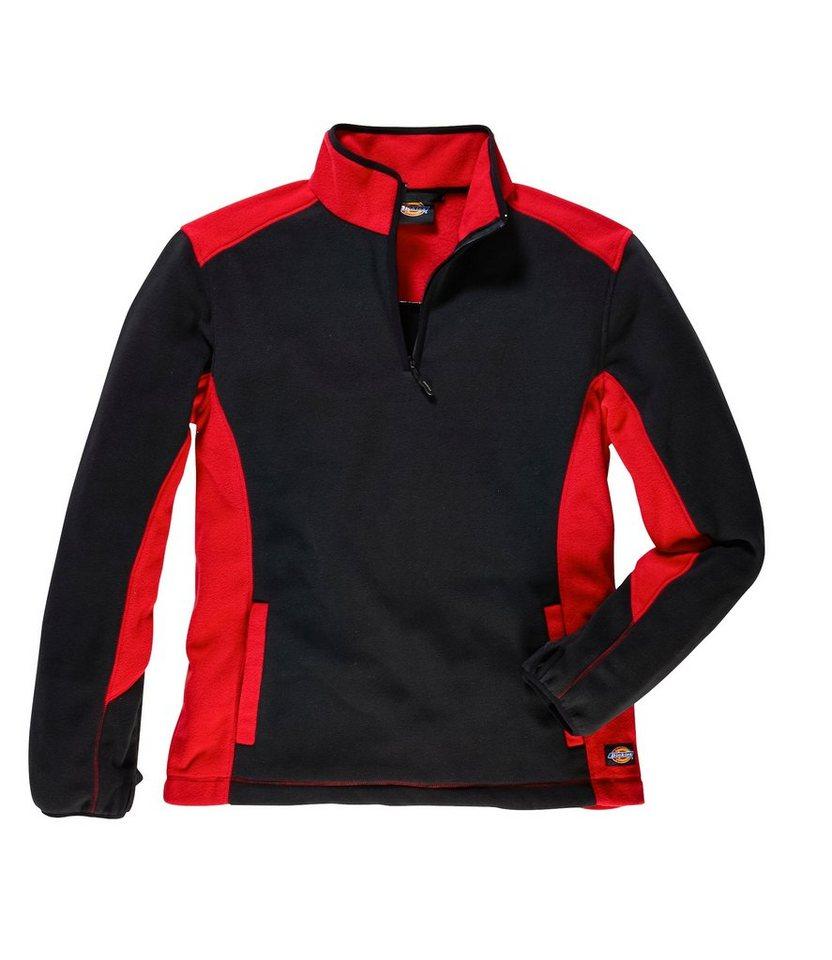 Fleece-Pullover »Two Tone Micro Fleece« in rot/schwarz