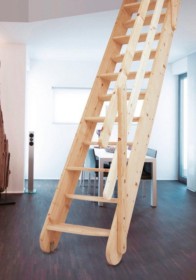 starwood raumspartreppe samos b 60 cm fichte inkl holzgel nder online kaufen otto. Black Bedroom Furniture Sets. Home Design Ideas