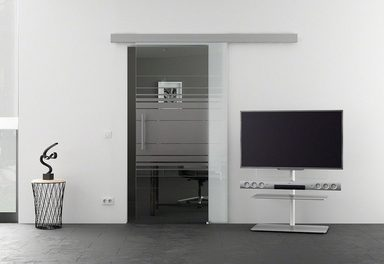 Glasschiebetür »Eco Horizontal«, mit Stangengriff, in 3 Breiten