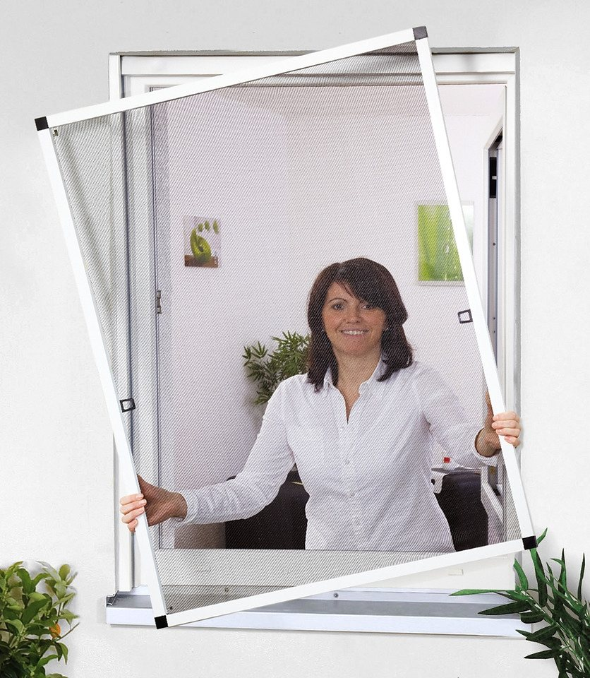 Insektenschutz-Fensterbausatz »Basic« braun, in verschiedenen Größen in anthrazit