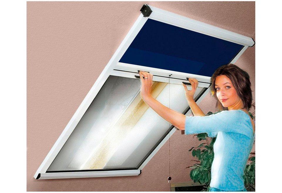 Insektenschutz- und Verdunkelungsrollo »Kombirollo« für Dachfenster, weiß