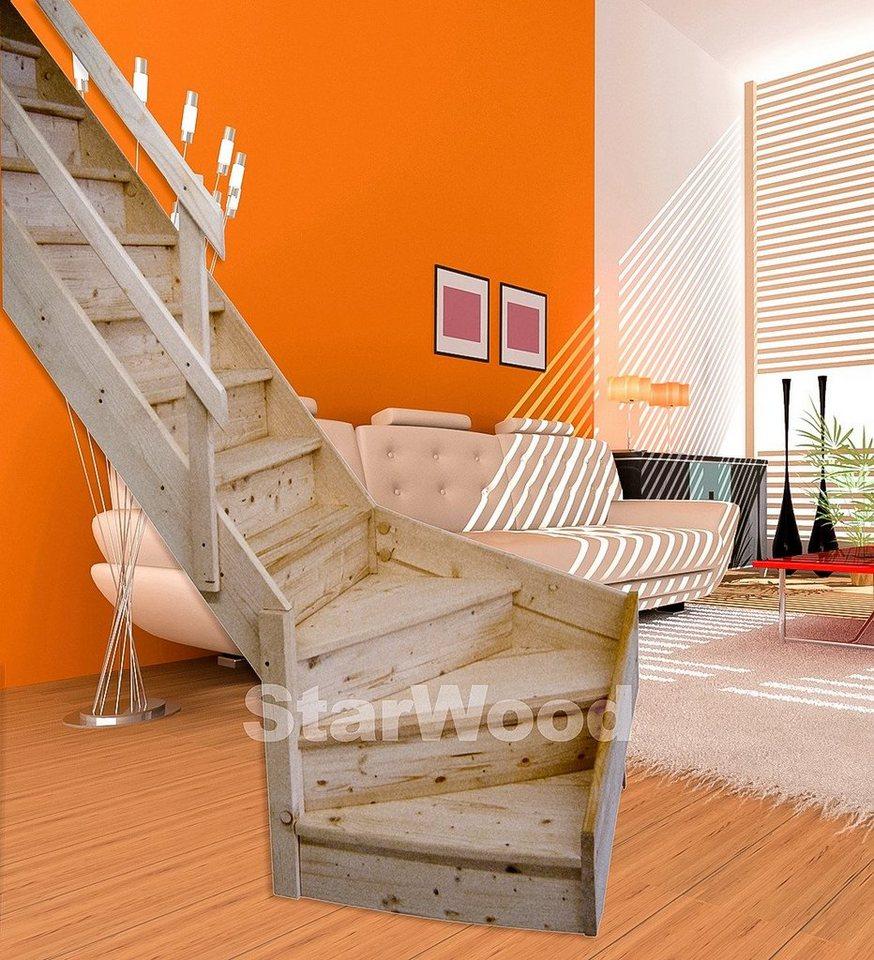 starwood raumspartreppe korfu geschl stufen 1 4 links gewendelt holzgel nder links online. Black Bedroom Furniture Sets. Home Design Ideas