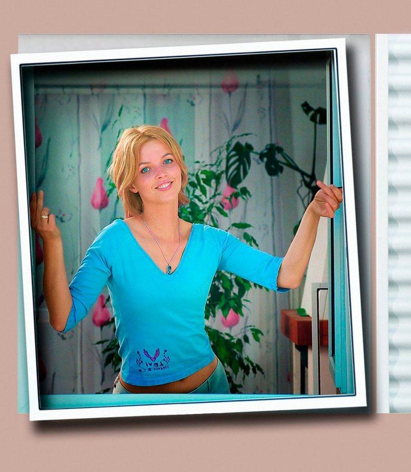 Insektenschutz-Fenster »Plus« braun, individuell kürzbar