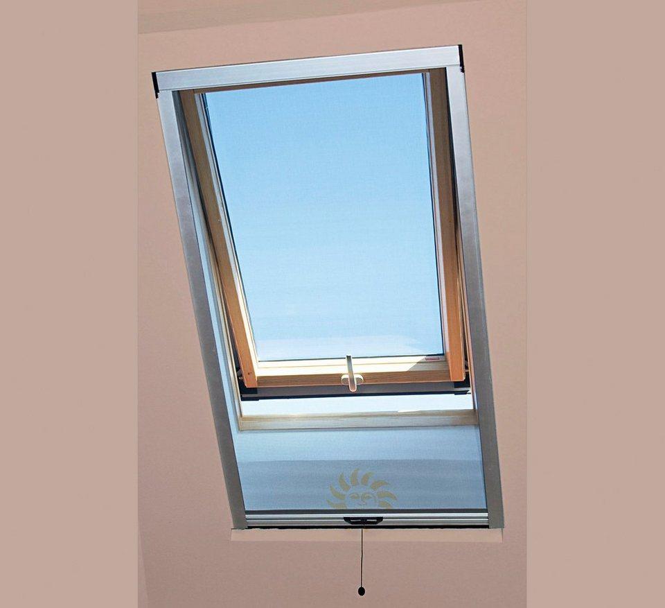 Insektenschutz-Rollo für Dachflächenfenster, silber eloxiert (in 3 Größen)