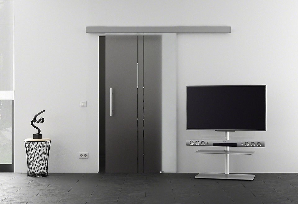 Glasschiebetür »Eco Vertikal« in weiß