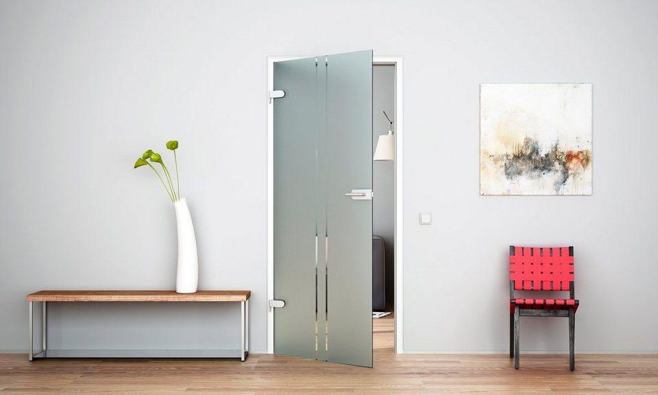 Glaszimmertür »Vertikal« (ohne Beschläge) in weiß