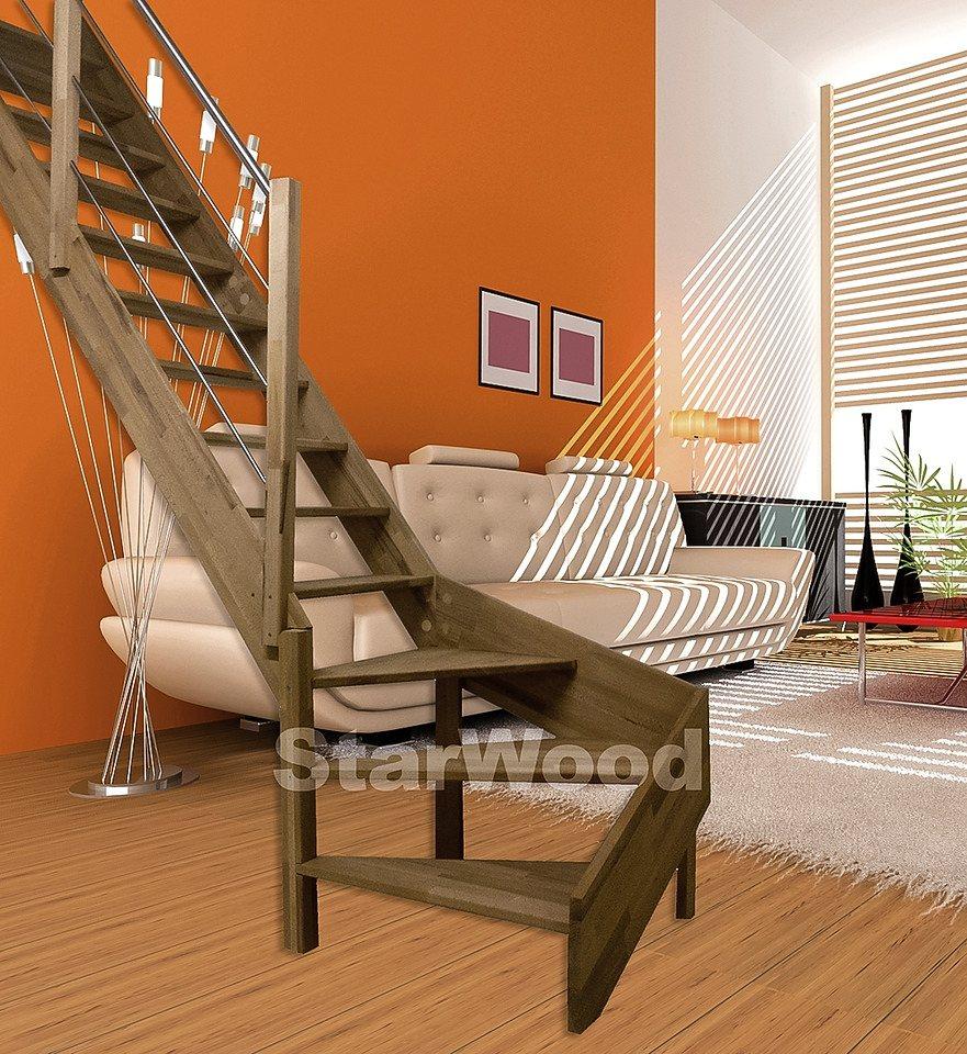 starwood raumspartreppe rhodos offene stufen 1 4 links gewendelt holz edelstahlgel links. Black Bedroom Furniture Sets. Home Design Ideas