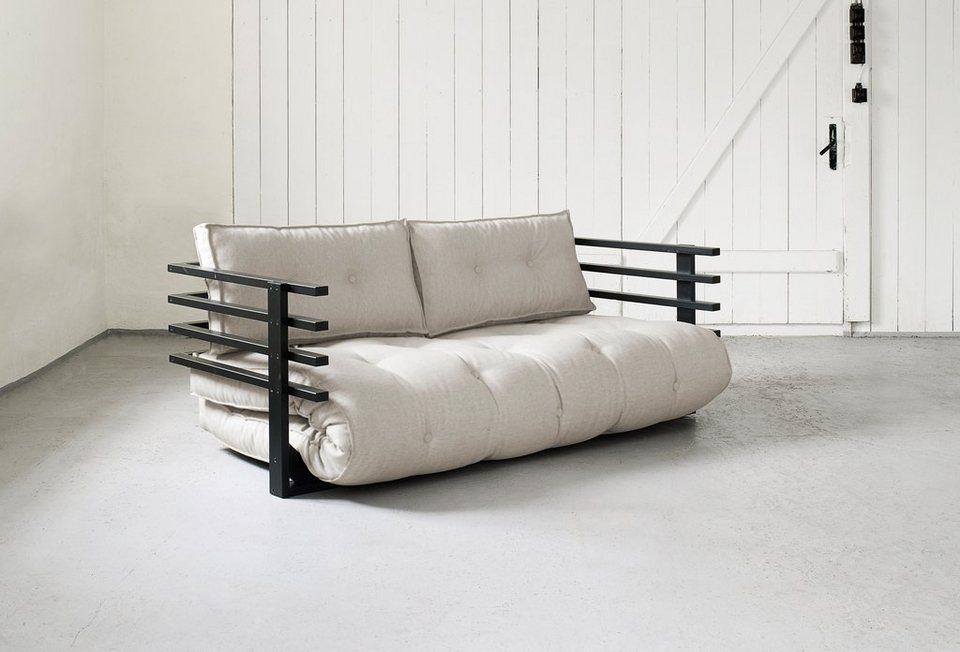 Sofabett, Karup in naturfarben