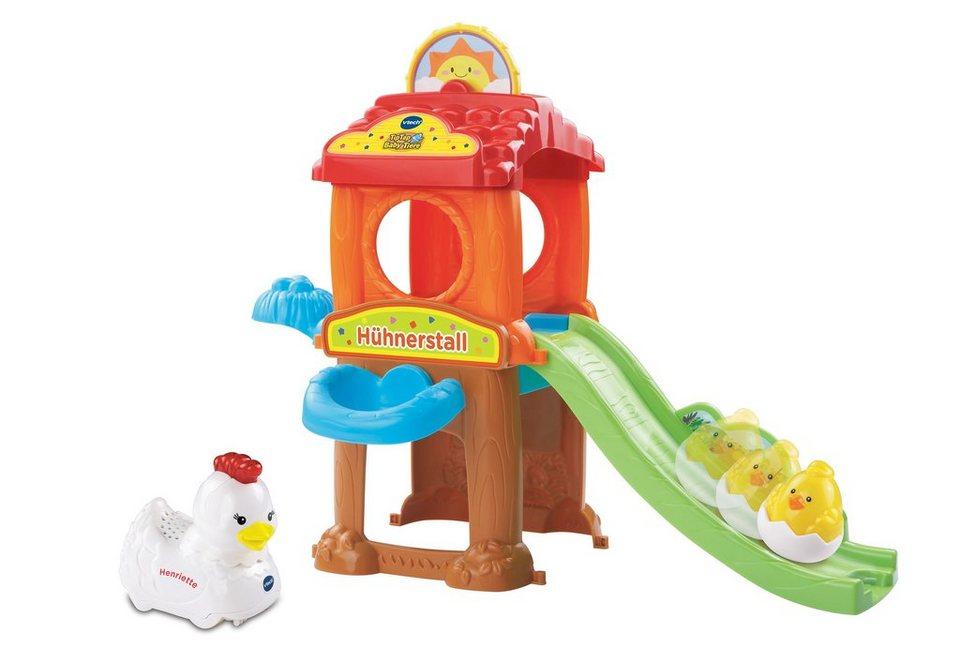 Hühnerstall inkl. Henne und Küken, »VTech Baby, Tip Tap Baby Tiere - Hühnerstall«, VTech