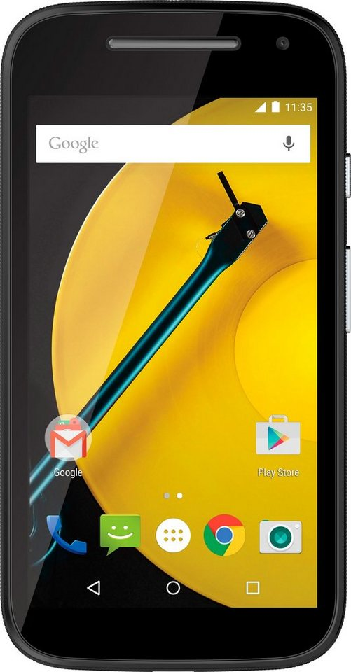 Moto E 2nd LTE Smartphone, 11,4 cm (4,5 Zoll) Display, LTE (4G), Android 5.0, 5,0 Megapixel in schwarz