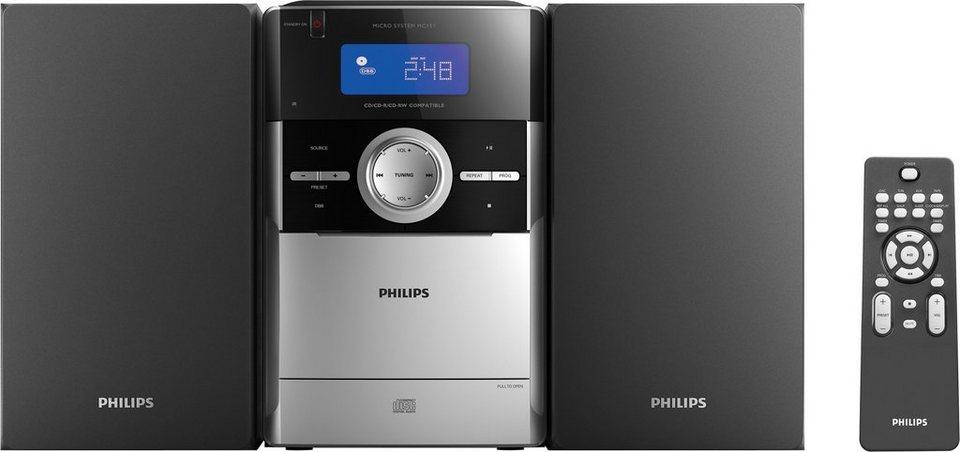 Philips MC151 Microanlage in Silberfarben/Schwarz