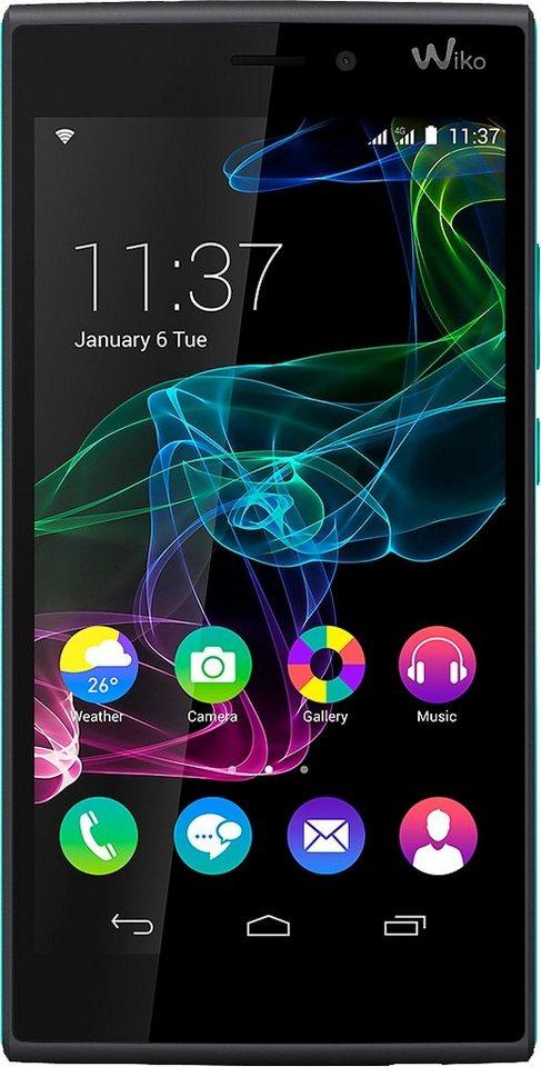 Wiko RIDGE 4G Smartphone, 12,7 cm (5 Zoll) Display, LTE (4G), Android 4.4.4, 13,0 Megapixel in schwarz/türkis