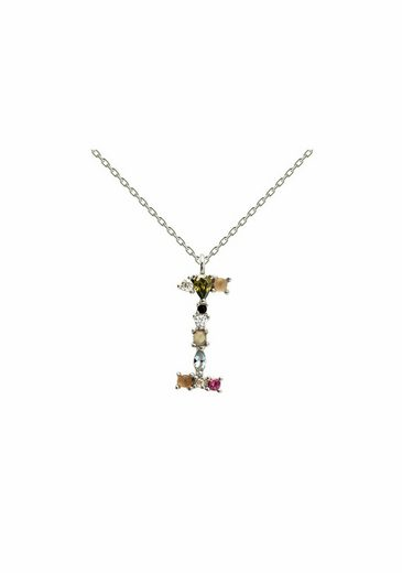 PDPAOLA Halsband »Buchstabe I Silberhalskette«