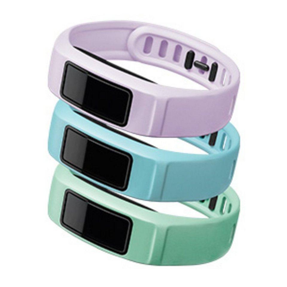 Garmin Ersatzarmbänder »Armbänder vivofit 2 - Mint, Hellblau, Lila (L)« in Hellblau