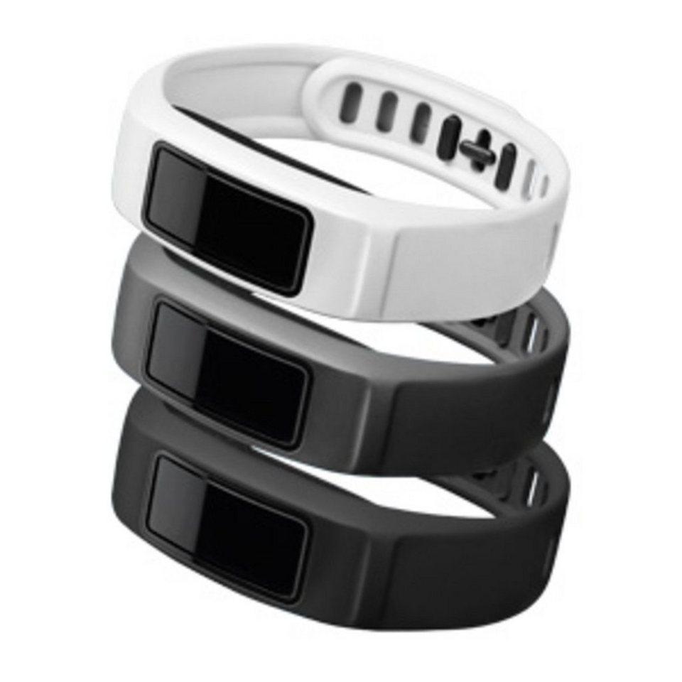 Garmin Ersatzarmbänder »Armbänder vivofit 2 - Weiß, Grau, Schwarz (S)« in Weiß
