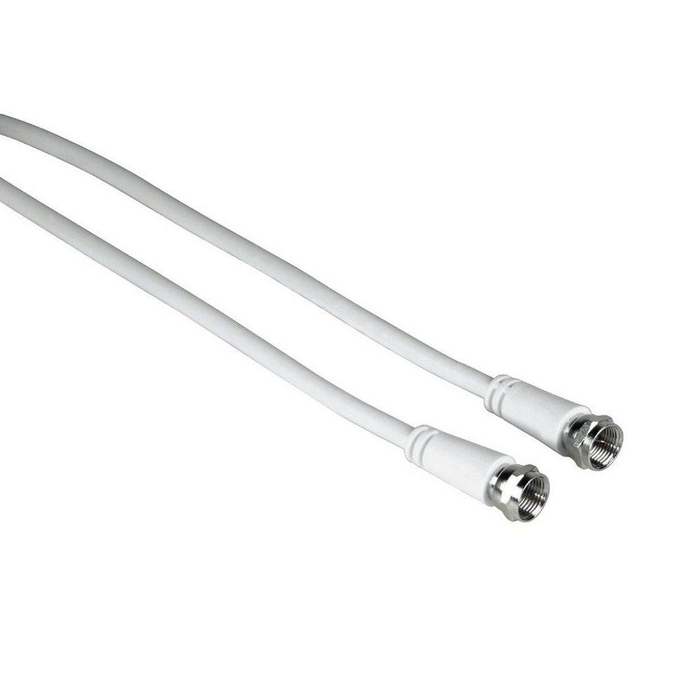 Exxter SAT-Anschlusskabel F-Stecker - F-Stecker, 3 m in Weiß