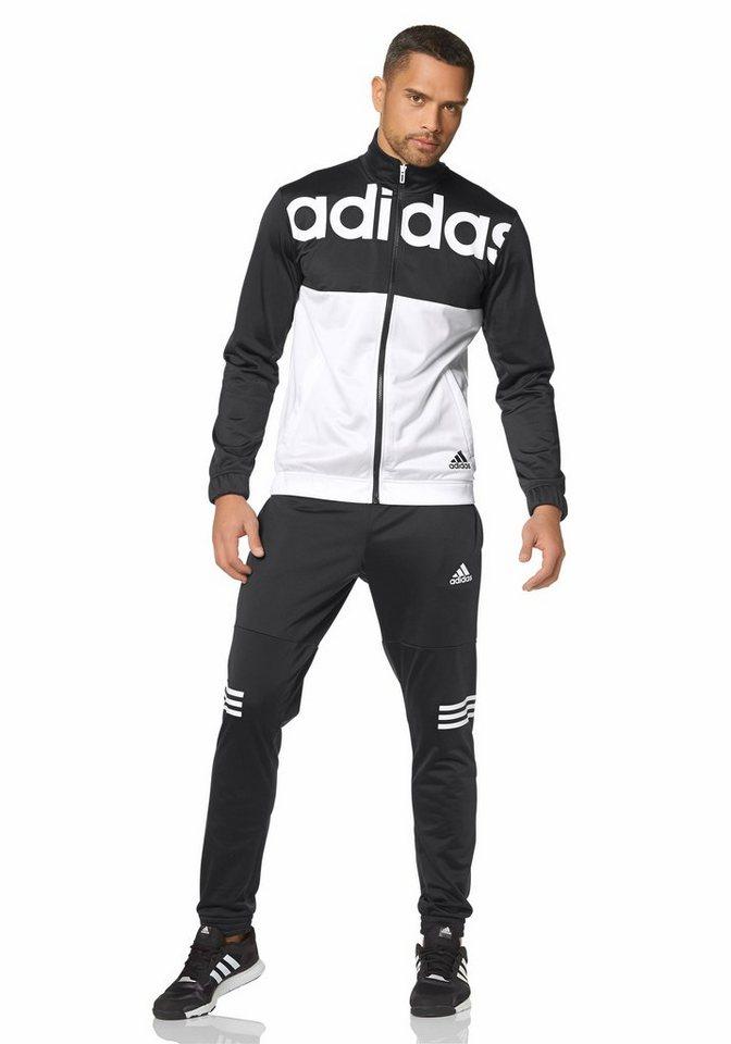 adidas Performance Trainingsanzug in Schwarz-Weiß