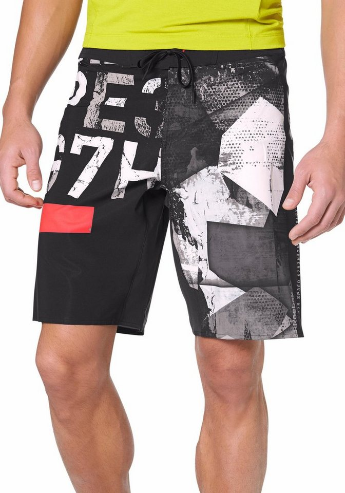 Reebok Shorts in Schwarz-Grau