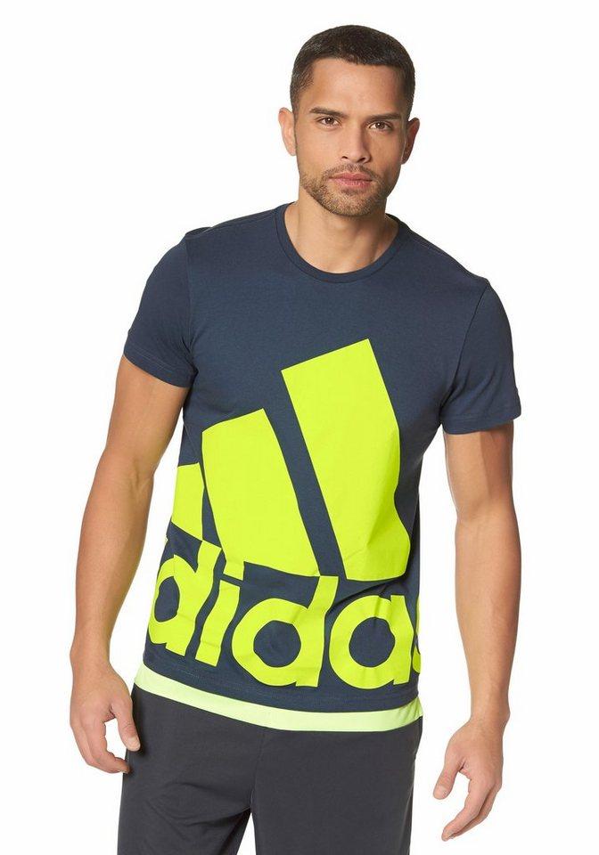 adidas Performance LOGO TEE BIG T-Shirt in Graublau