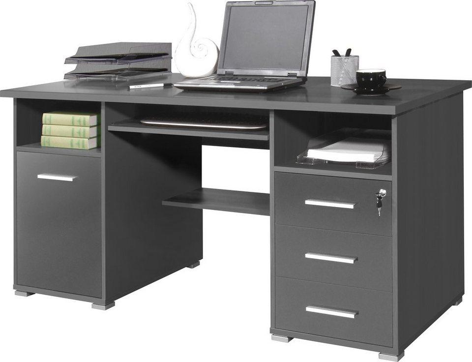germania schreibtisch 0484 mit tastaturauszug und abschlie barem schubkasten online kaufen otto. Black Bedroom Furniture Sets. Home Design Ideas
