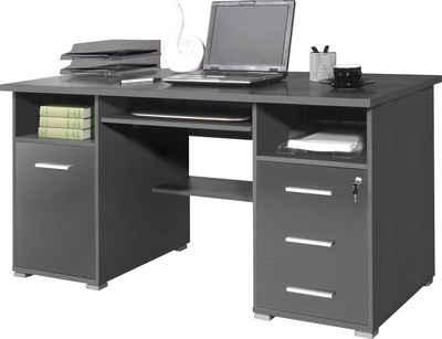 Entzuckend GERMANIA Schreibtisch »0484«, Mit Tastaturauszug Und Abschließbarem  Schubkasten