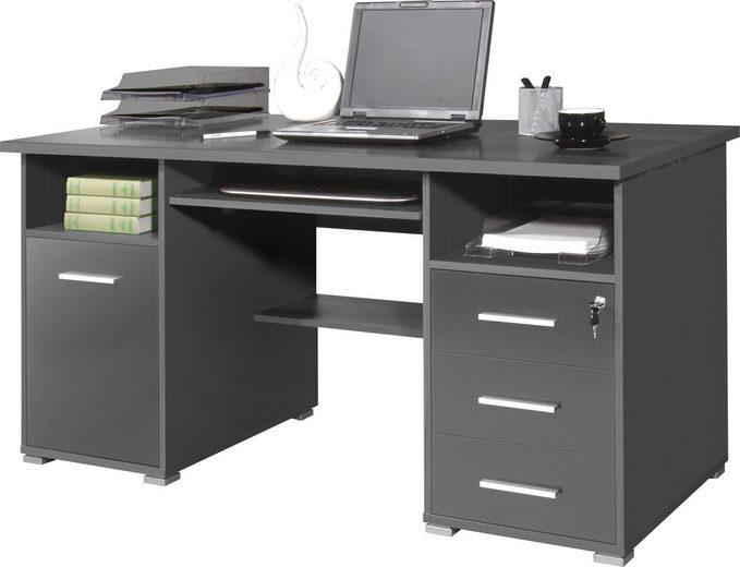GERMANIA Schreibtisch »0484«, mit Tastaturauszug und abschließbarem Schubkasten