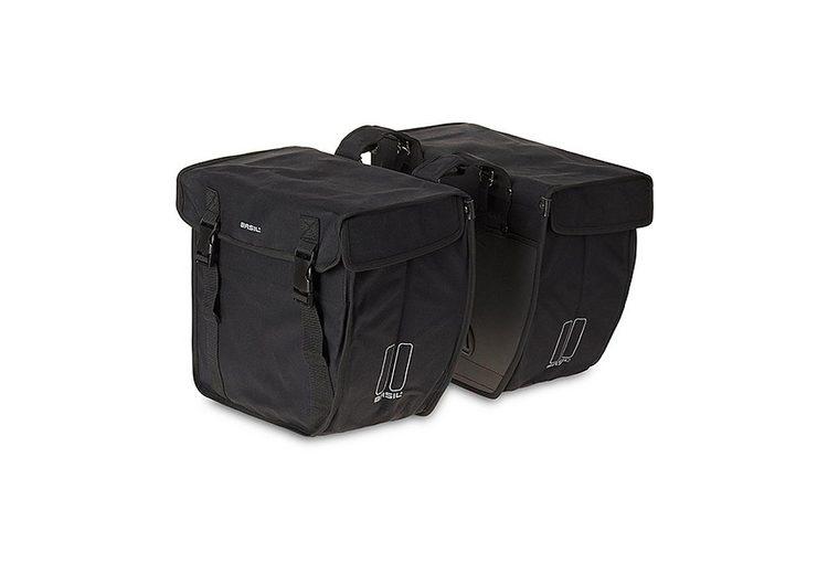 Basil Gepäckträgertasche »Kavan Rounded Doppeltasche schwarz«