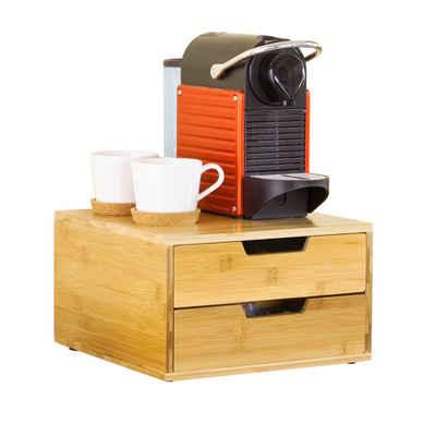 SoBuy Kapselspender »FRG82«, Kaffeekapsel Box Aufbewahrungsbox Schubladenbox Schreibtischorganizer