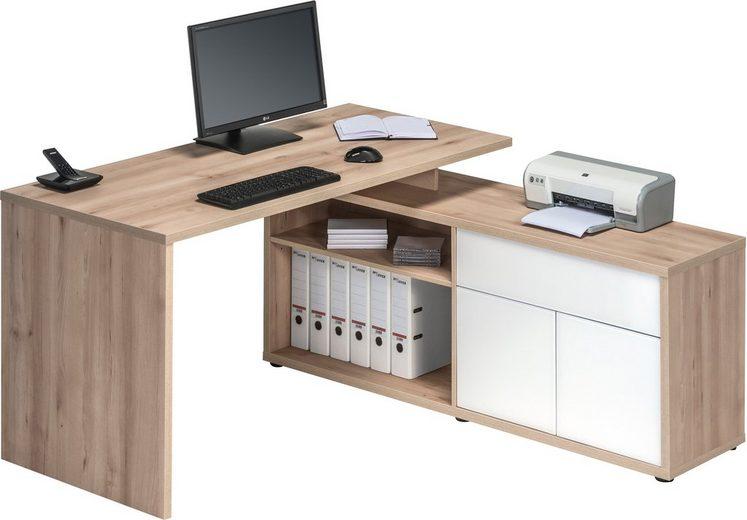 Eck-Schreibtisch, Maja Möbel, »4020«, mit Push to Open-Funktion