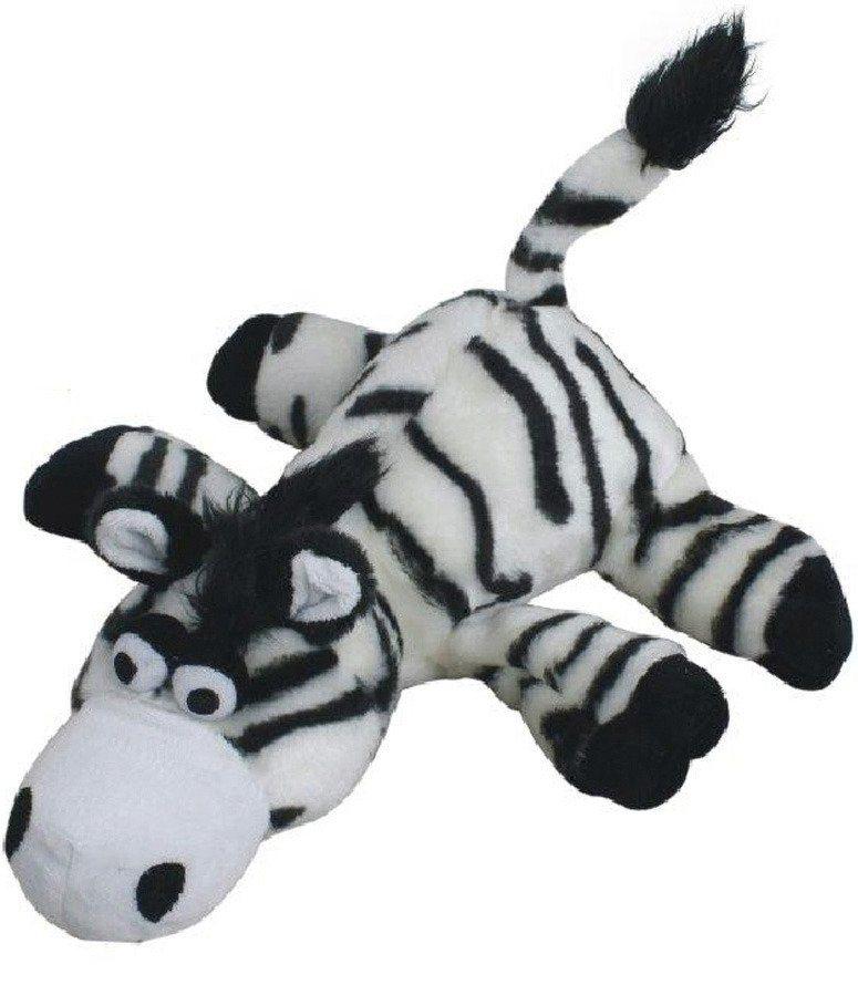 Hunde-Spielzeug-Set »Plüschspielzeug Zebra« in weiß/schwarz