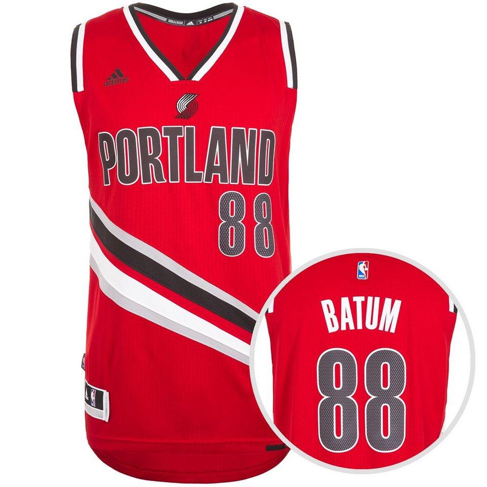 adidas Performance Portland Trailblazers Batum Swingman Basketballtrikot Herren in rot / schwarz