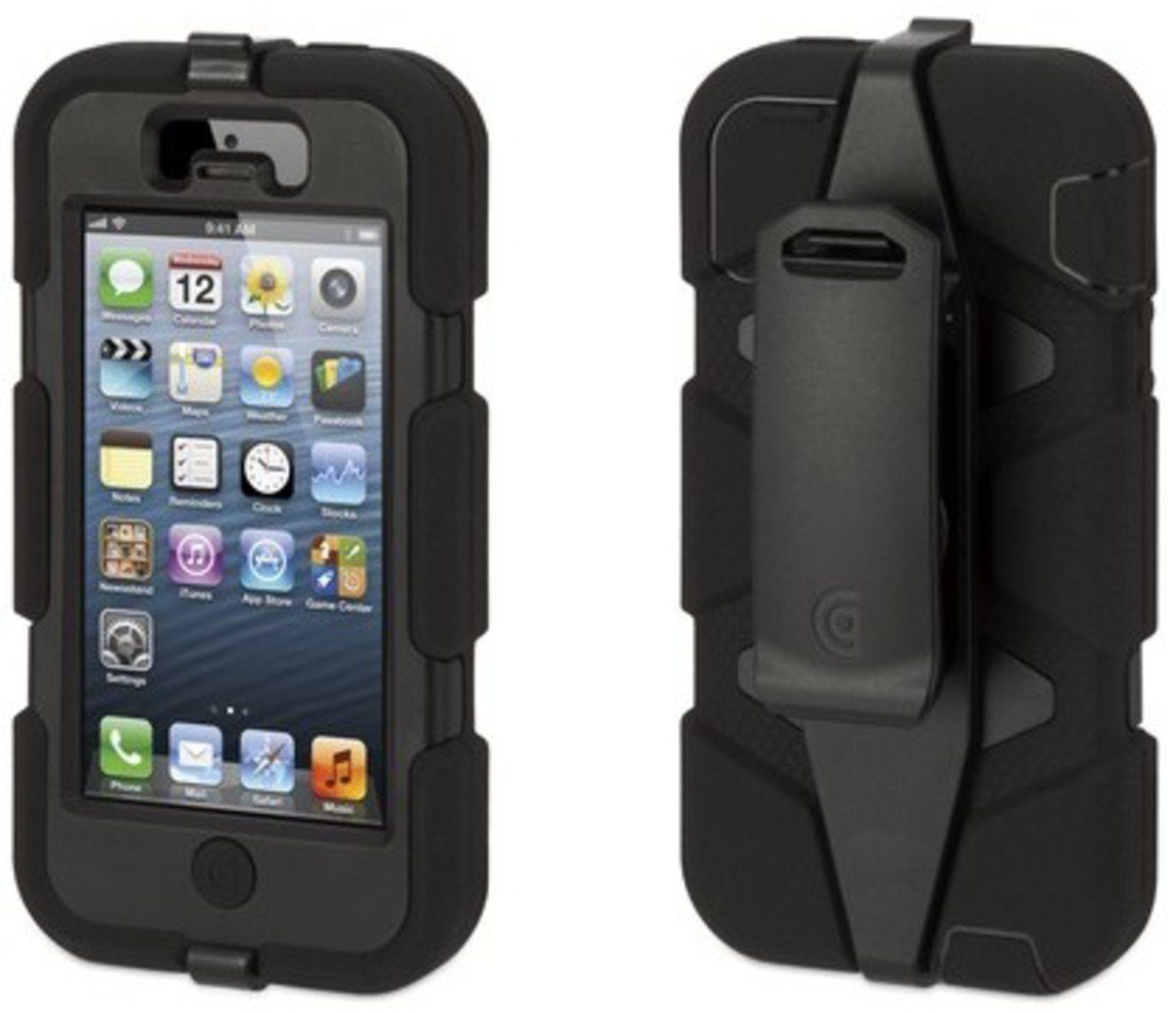 Griffin Handytasche »Rugged Case Survivor für iPhone 5/5S, Schwarz«