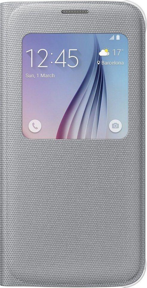 Samsung Handytasche »S-View Cover Fabric EF-CG920 für Galaxy S6, Silber« in Silber