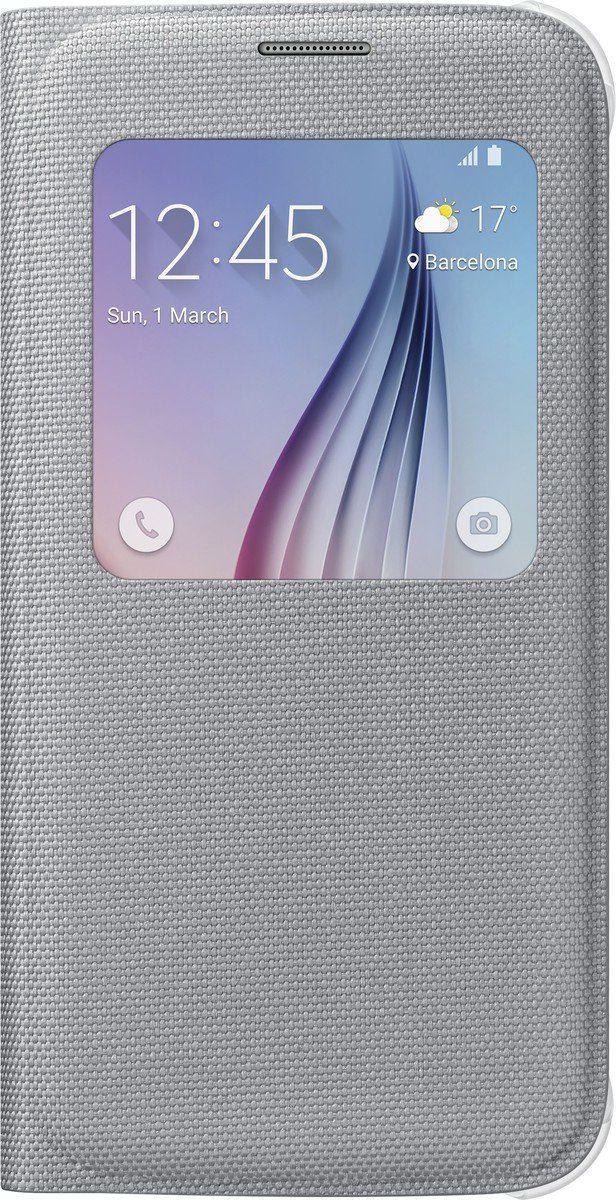 Samsung Handytasche »S-View Cover Fabric EF-CG920 für Galaxy S6, Silber«