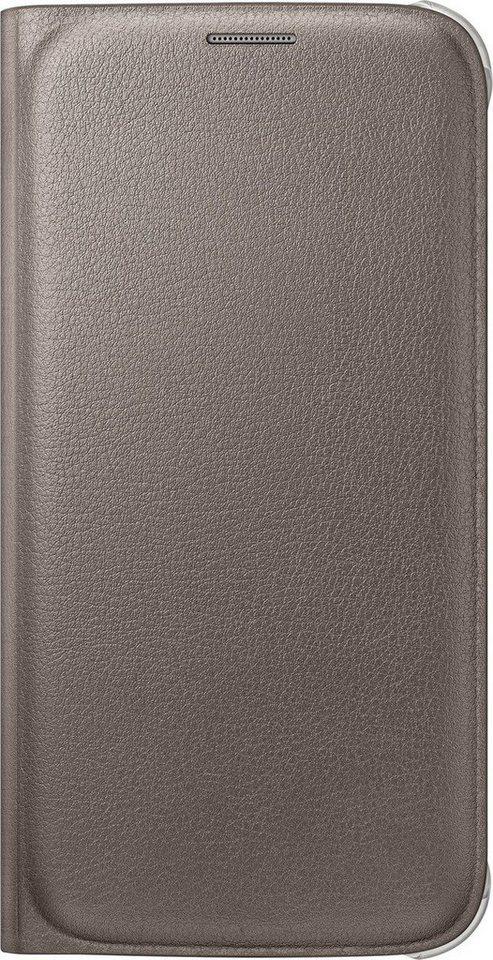 Samsung Handytasche »Flip Wallet PU EF-WG920 für Galaxy S6, Gold« in Gold