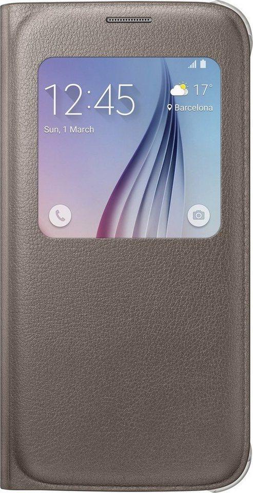 Samsung Handytasche »S-View Cover PU EF-CG920 für Galaxy S6, Gold« in Gold