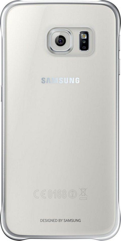 Samsung Handytasche »Clear Cover EF-QG920 für Galaxy S6, Silber« in Transparent