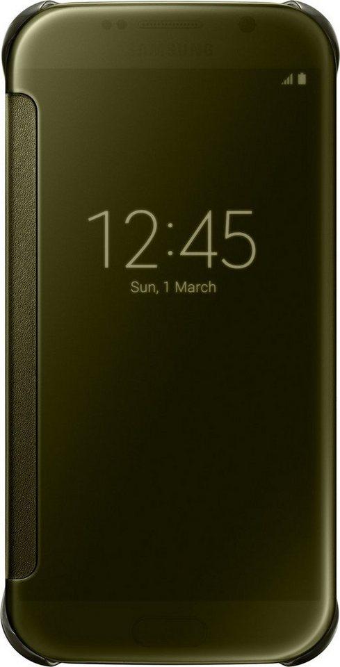 Samsung Handytasche »Clear View Cover EF-ZG920 für Galaxy S6, Gold« in Gold