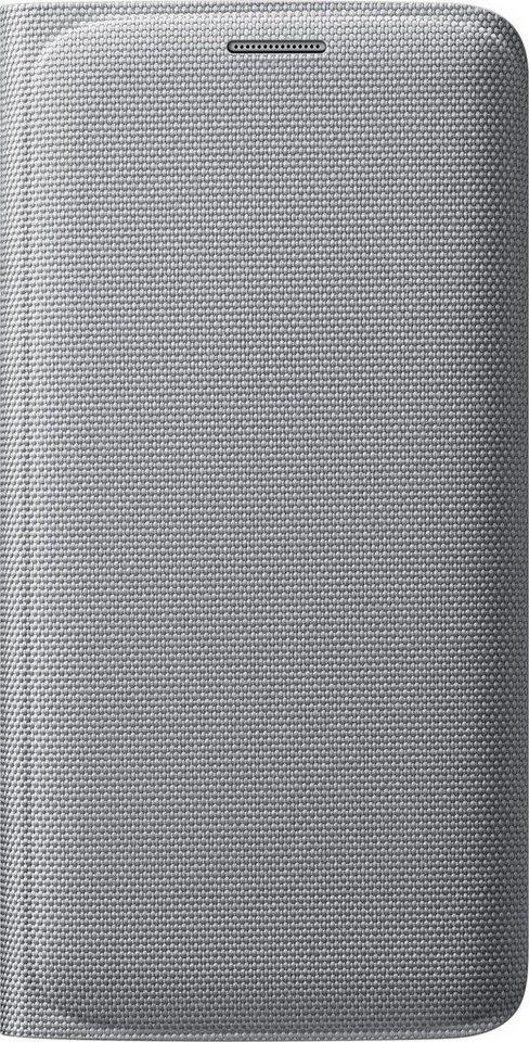 Samsung Handytasche »Flip Wallet Fabric EF-WG925 für S6 Edge Silber« in Silber
