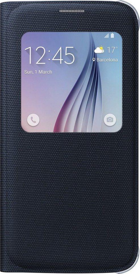 Samsung Handytasche »S-View Cover Fabric EF-CG920 für S6, Schwarz« in Schwarz