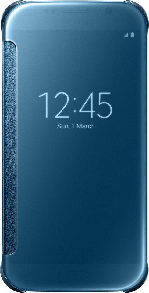 Samsung Handytasche »Clear View Cover EF-ZG920 für Galaxy S6, Blau« in Blau